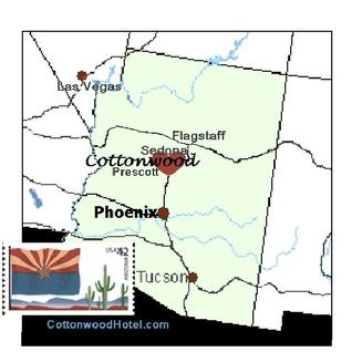 Arizona Map Cottonwood AZ