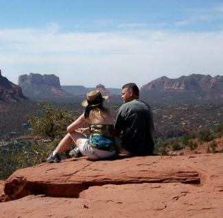 Rachel & Wally Ewing Fremont, MI at Sedona Arizona Airport Vortex click photo for more Cottonwood Hotel reviews