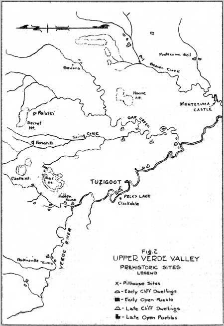 Verde Valley Prehistoric Sites MAP